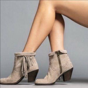 Sam Edelman Louie Fringe Taupe Boots Size 10 M